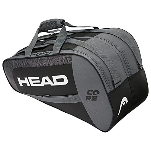 Head Core Combi Bolsa Tenis, Unisex Adulto, Negro/Blanco, Largo-6 Palas de Padel