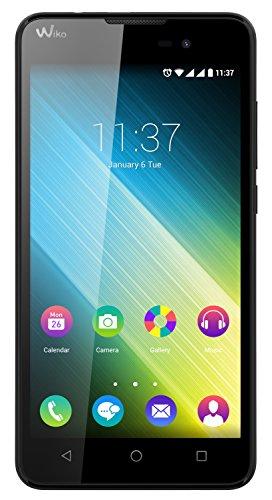 Wiko Lenny 2 Smartphone (12,4 cm (5 Zoll) IPS-Display, 1,3 GHz Quad-Core Prozessor, 8GB interner Speicher, 1GB RAM, Android 5.1 Lollipop) schwarz