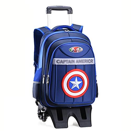 XNheadPS Spiderman Borsa Viaggio Rimovibile Impermeabile di Grande capacità Borsa da Viaggio per Bambini Borsa Viaggio Portatile per Ragazze Ragazzi Salire Le Scale,Blue-Six Wheel