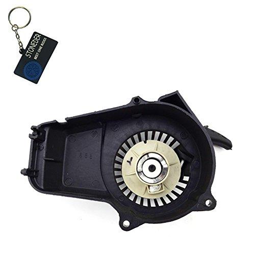 Arrancador de retroceso Stoneder de plástico negro para motor de 2 tiempos, 47cc, 49cc para minimotos, motocicletas y cuadriciclos de 4 llantas