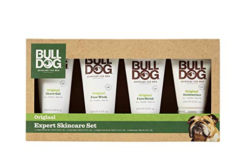 Bulldog Mens Skincare and Grooming Expert Skincare Set Including Shave Gel, Face Wash, Face Scrub &...