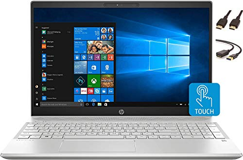"2020 HP 15.6"" FHD Touchscreen Laptop Computer, 10th Gen Intel Quad Core i5-1035G1, 802.11ac WiFi, HDMI, Windows 10 + CUE Accessories (12GB DDR4 | 256GB SSD)"