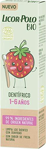 Licor Del Polo Dentífrico Licor del Polo Bio Junior 1-6 Años Fresa, 1 x 60 g