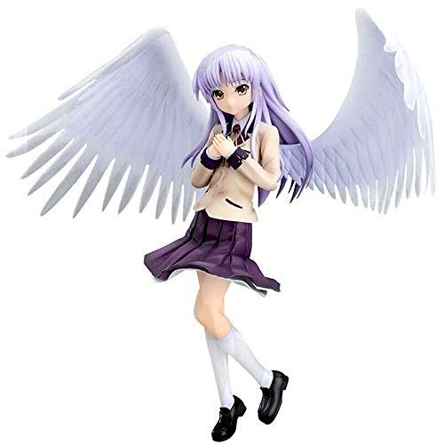 Zxl-shouban Angel Beats Tachibana Kanade Uniforme Animado Acción de Colección Juguete decoración del hogar Adornos Modelo en Caja Hecha a Mano Altura - 8.66inches (22cm)