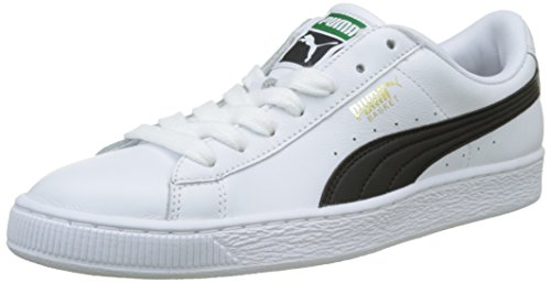 PUMA Herren Basket Classic LFS Sneakers, Weiß (White-Black), 37 EU