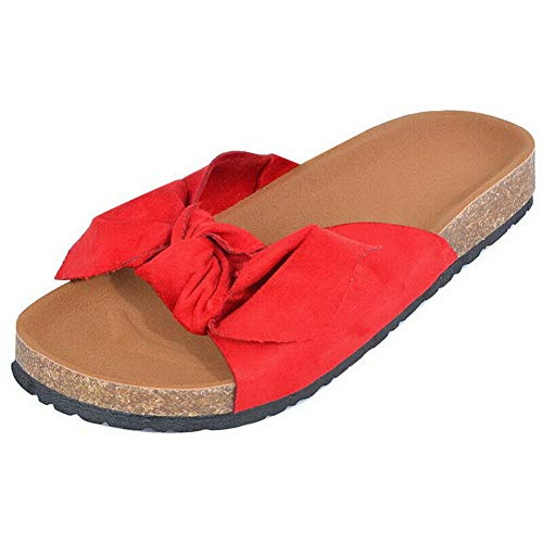 Keepbest Bow slippers Zomer Vrouwen Flat Bow-Knot Sandalen Comfy Indoor Outdoor Beach Slippers Schoenen