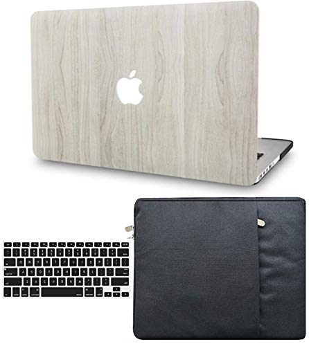 KECC Laptop Case for MacBook Air 13' w/Keyboard Cover + Sleeve Plastic Hard Shell Case A1466/A1369 (Pine Wood 2)