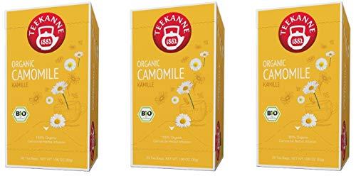 Teekanne Bio Kräutertee- 3er Pack Kamille (3 x 20 Beutel, 90 g)