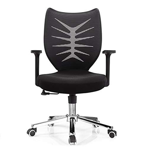 TJSCY Comfortabele bureaustoel, verstelbaar in hoogte lederen stoel 360° draaiende computerstoel, geschikt voor Office Hotel Internet Cafe