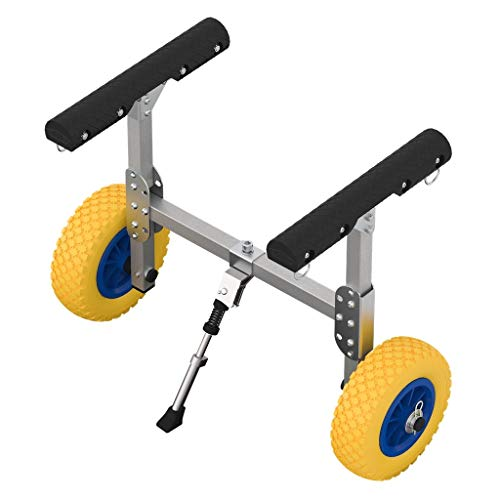 SUPROD Chariot pour Kayak, de canoë, Sup, KW200, Aluminium, Jaune/Bleu