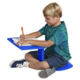 ECR4Kids - ELR-15810-BL The Surf Portable Lap Desk, Flexible Seating for Homeschool and Classrooms, One-Piece Writing Table for Kids, Teens and Adults, GREENGUARD [GOLD] Certified, Blue