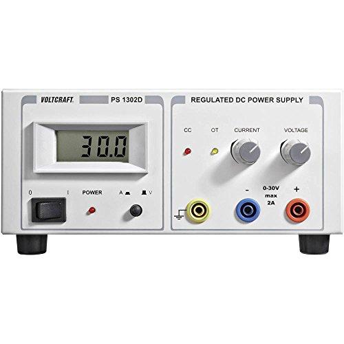 Voltcraft PS-1302 D Labornetzgerät, einstellbar 0-30 V/DC 0-2 A 60 W Anzahl Ausgänge 1 x