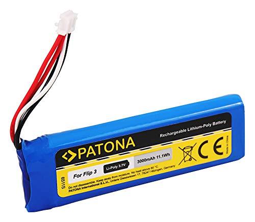 PATONA - Batería de repuesto para JBL GSP872693 (3000 mAh, compatible con JBL Flip 3)