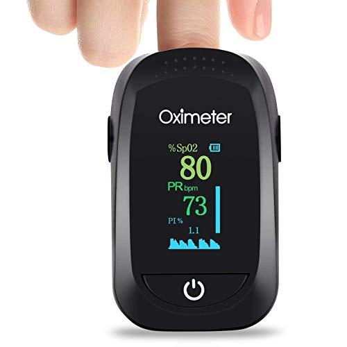 KALAOK Oximeter Fingerpulsoximeter für die Messung des Puls und der Sauerstoffsättigung Pulsoximeter mit OLED-Display One-Touch Bedienung für Erwachsene, ältere Menschen, Kinder