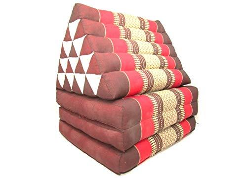 Growthshop15-Triangle Cushion Thai Pillow 3 Fold Kapok Organic Cotton Meditation Bed Handmade