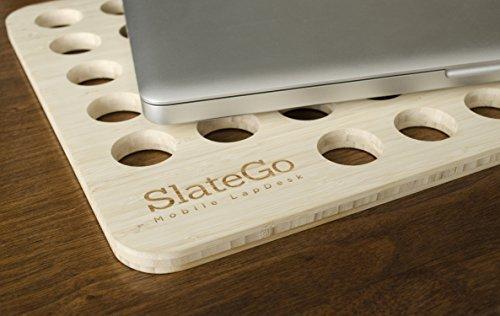 "iSkelter SlateGo Mini: Mobile LapDesk - Travel Size Lap Desk (for 15"" Laptops)"