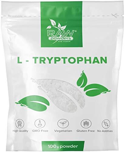 L Tryptophan Pulver 100g | Dopamin, Serotonin Boost - Stimmungsaufheller, Schlafhilfe | Vegan, Vegetarier | RAW Powders