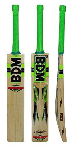 BDM Botschafter Englisch Willow Wood Erwachsen-Größen Cricket-Schläger mit Tragetasche - Gewicht wählen