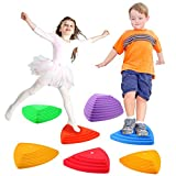 Gentle Monster Stepping Stones for Kids, Set of 6 Pcs for Balance with Non-Slip Bottom - Exercise Coordination and Stability, Perfect Indoor and Outdoor Play Equipment for Kids, Unique Birthday Gift