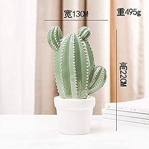 LONGJUAN-C Creative Ceramic Artificial Succulents Cactus Plants Bonsai Desert Artificial Plant for Table Garden Home Decoration Ornaments Art Gift Decoration