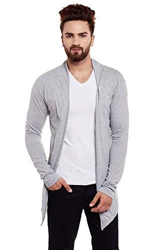 DENIMHOLIC Cotton Shrug for Men Grey