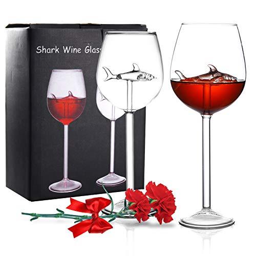 Shark Wine Glasses Set of 2 10 OZ Now $12.99 (Was $25.99)