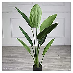 kerryshop Simulation Tree 47 Inch Artificial Banana Tree, Faux Tree Made of High-Grade Light Gauze Material Cloth, Can Be Used Indoors and Outdoors. Artificial Tree