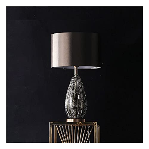 Water cup Modern Table lamp Table Lamp Creative Glass Bedside Desk Lamp Copper Chassis Glass Lamp Body with Bubble Texture, Upper and Lower Lighting Lampshade Modern Bedroom Table