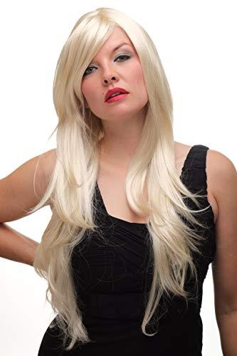 VK Event Fashion - Perruque Blonde Platine Avec Raie 3217