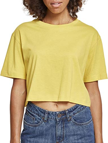 Urban Classics Ladies Short Oversized tee Camiseta, Amarillo (Honey 01466), Medium para Mujer