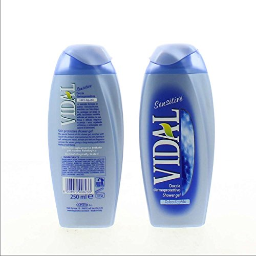 12 x 250ml Vidal Duschgel Sensitive Talkum