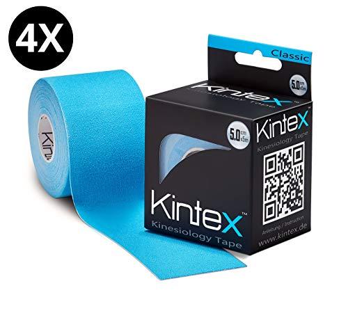 Kintex Kinesiologie 4 Rollen Classic 5cm x5m, Physio, Therapie-Tape, Blau, x 5m