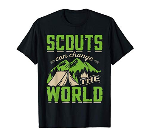 Scouts Scouting Team Leader Camp Nature Mountains Gift Maglietta
