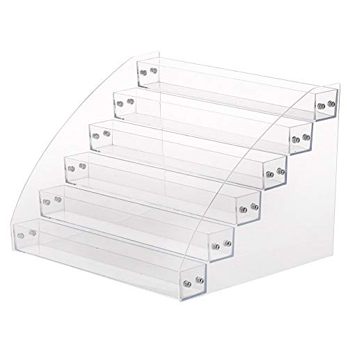Nagellack Display Ständer, 6 Arten dauerhafte Nagellack Acryl klar Make-up Display-Ständer Rack-Organizer-Halter (Six Layers)