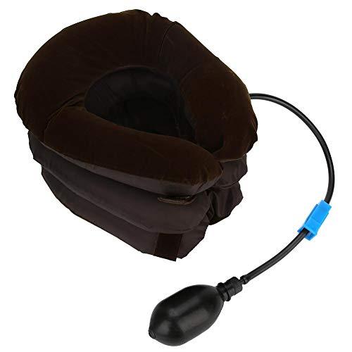 Daytesy Almohada para el Cuello - Portátil Thicken Air Almohada Inflable para el Cuello en Forma de U Vértebra Cervical Almohada para Tractor Café