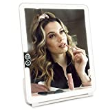 Estala 3x1 Led Lighted Makeup Mirror for Travel with 10x Magnification Mirror & Travel Case - Compact Vanity Mirror with Adjustable Brightness, Touch Sensor Dimmer - Rechargeable, Illuminated Mirror