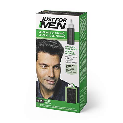 Just For Men Tinte Colorante En Champu Para El Cabello Del Hombre. Negro. H-55