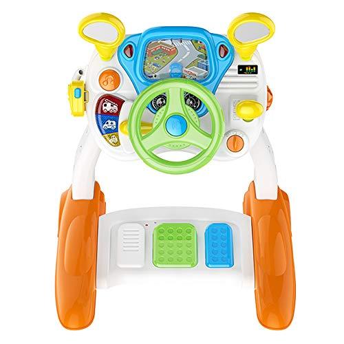 YL2SC Multifunktion Fahrsimulator Für Kinder Kinderlenkrad Mit Pedalen Und Bremsen Musik Licht Gegensprechanlage