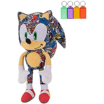 Amazon Com Official Sonic The Hedgehog Sonic Bomb Sticker Special Edition Plush Stuffed Figure Licensed Bonus With Name Tag Toys Games