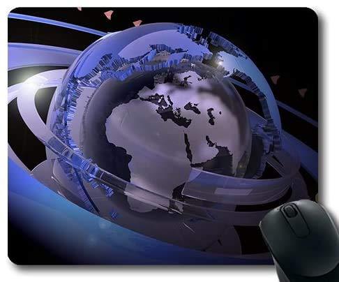 Mausefalle Flasche Erde, Astronaut Schwereloses Weltraumuniversum Erde PlanetGaming Mauspads, Mausmatte
