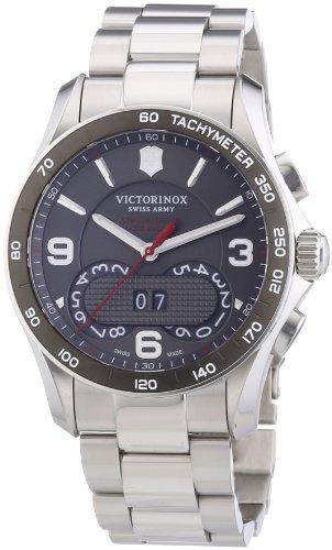 Victorinox Swiss Army Chrono Classic - Reloj de Cuarzo para Hombre, con Correa de Acero Inoxidable, Color Plateado