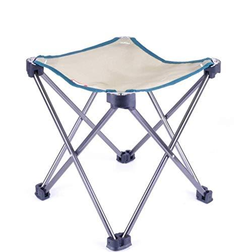 OLDJTK Camp Stool Kleiner Klappstuhl Tragbarer Mini Step Slacker Hocker Camping Klappstühle Outdoor Faltbar (Color : Khaki 25 * 25 * 28cm)