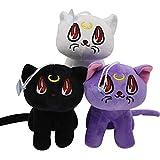 XYACM Cat Toys Kitten Toys Sailor Moon Pendant Soft Stuffed Animal Luna Cat Doll Plush Toy 3Pcs/Set
