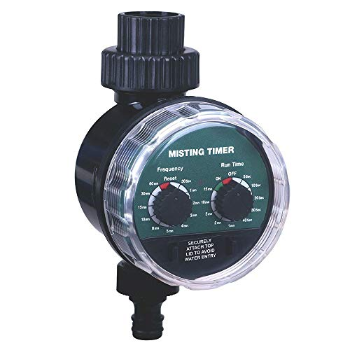 N\A Schlauch Sprinkler Wasser Timer Beschlagen Kugelhahn Sekunden Bewässerung Timer Automatischer elektronischer Wasser-Timer-Hausgarten-Controller (Color : Black)