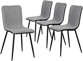 Set of 4 Kitchen-Dining Chairs, Assemble All 4 in 5...