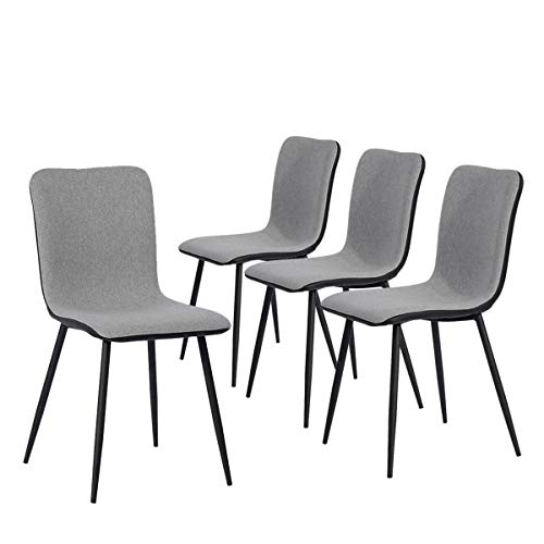 Dining Chairs Kitchen Chairs Set of 4 Modern Dining Room Side Chairs with Fabric Cushion Seat Back,...