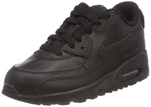 NIKE Women's Air Max 90 Running Shoe, Black/White, 7.5