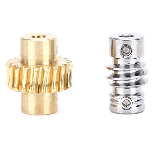Schneckenradsatz, 20: 1 Schneckenrad aus Bronze und Metallwelle, Schneckengetriebe mit hoher Torsion für 4: 1 ersetzen, Industrieroboterteile für DIY-Projekt