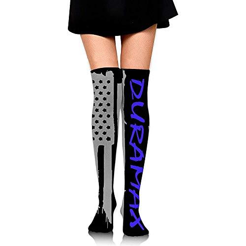 Jesse Tobias American Flag Duramax - Calcetines altos para mujer, botas hasta el muslo, medias altas ✅