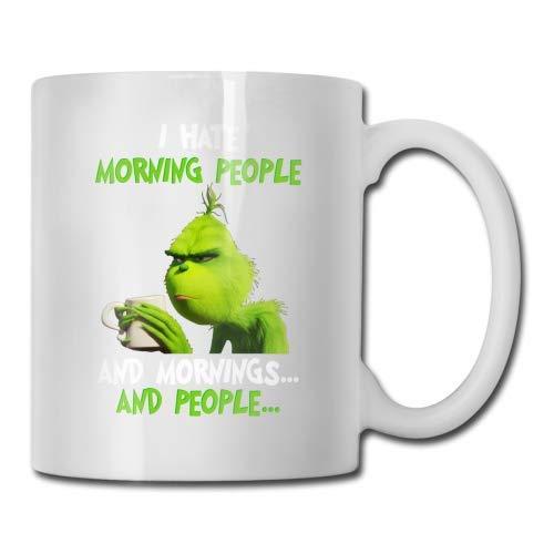 Büro-Tasse Mug,Porzellan Tasse,Frühstückstasse,Große Tasse,Porzellantasse,The-Grinch Christmas, Tasse En Céramique 11 Onces, Tasse À Thé En Céramique Blanche, Tasse En Porcelaine